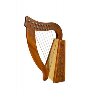 Harp 8 Strings Rosewood Knotwork O Carolan - Custom Wood Designs