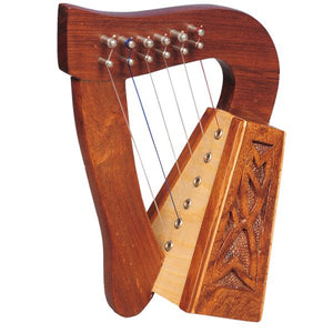 Harp 6 Strings Rosewood Knotwork - Custom Wood Designs