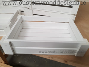 White Wooden Crates