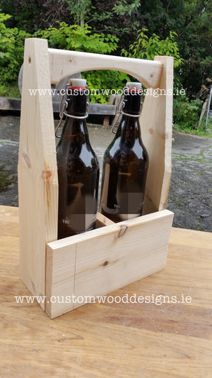 Wooden Caddy with handle Pine