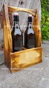 Wooden Caddy with handle - Rustic