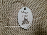 Tag Magic Time 6.2 x 4.2 x 0.3 cm - Custom Wood Designs