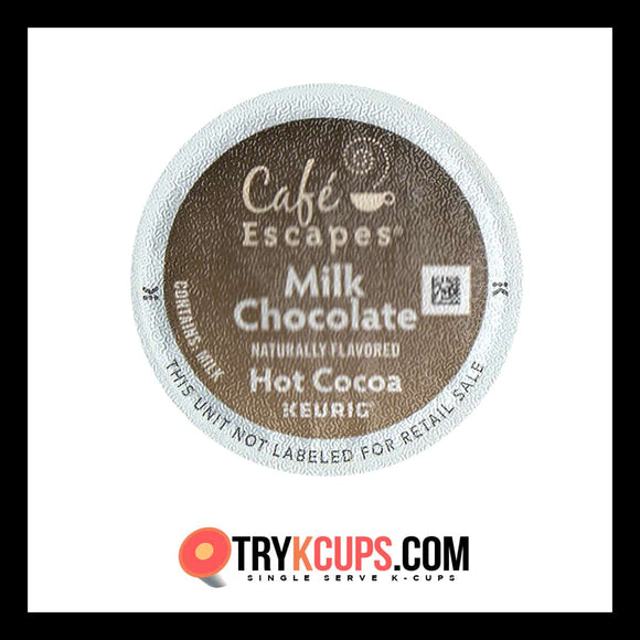 Cafe Escapes Milk Chocolate Hot Cocoa K-Cup Flavor