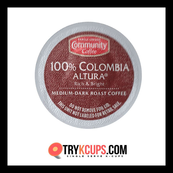 Community Coffee 100% Colombia Altura K-Cup Flavor