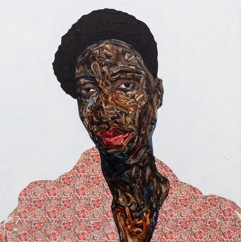 Missy May by Amoako Boafo, 2019 african painting by Ghanaian artist