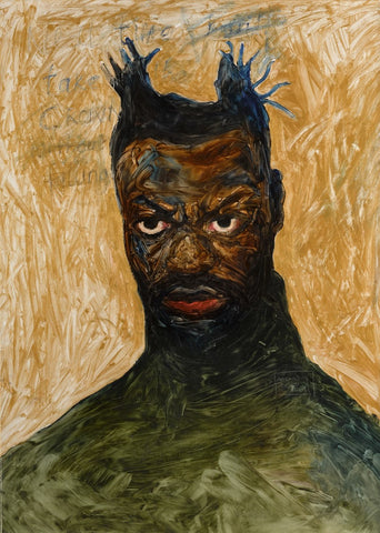 Amoako Boafo Self Portrait, 2017, african painting by African artist from Ghana, West Africa