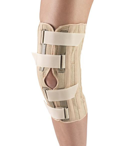 Knee Support - Condyle Pads, Front Opening