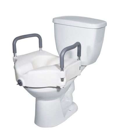 Raised Toilet Seat : Locking with Removable Arms