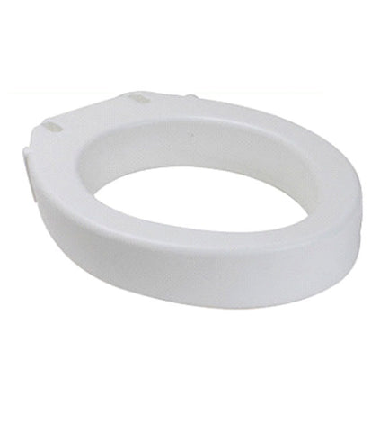 Elongated 4 inch Raised Toilet Seat: