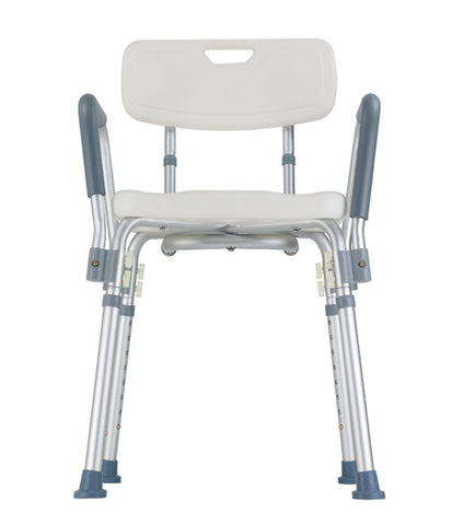 Bath Chair with Back and Arms - 300Lb Capacity