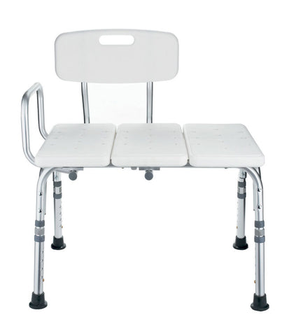 Transfer Bath Bench with Back: 300Lb Capacity