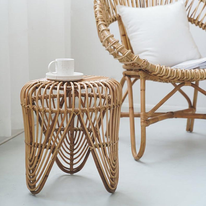 Congo Rattan Side Table-The Queen of Rattan-The Queen of Rattan