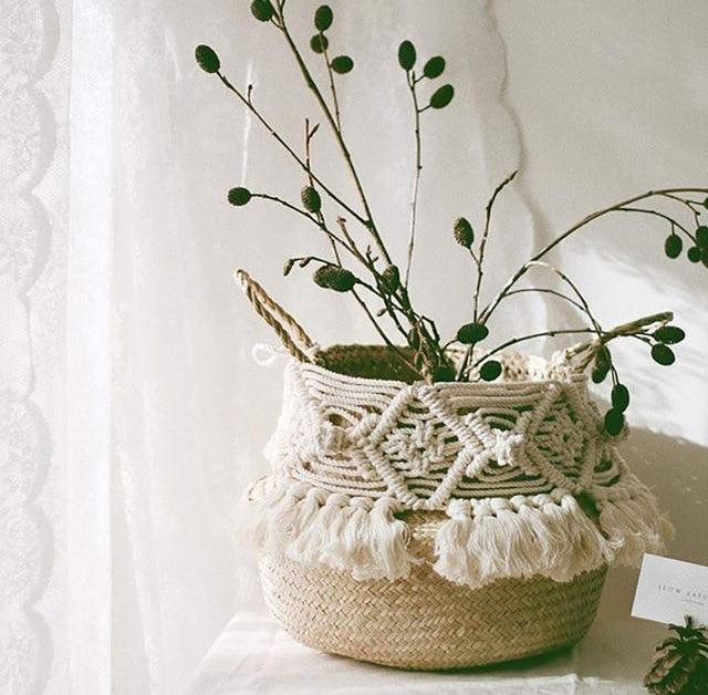 Macrame Basket-The Queen of Rattan-The Queen of Rattan
