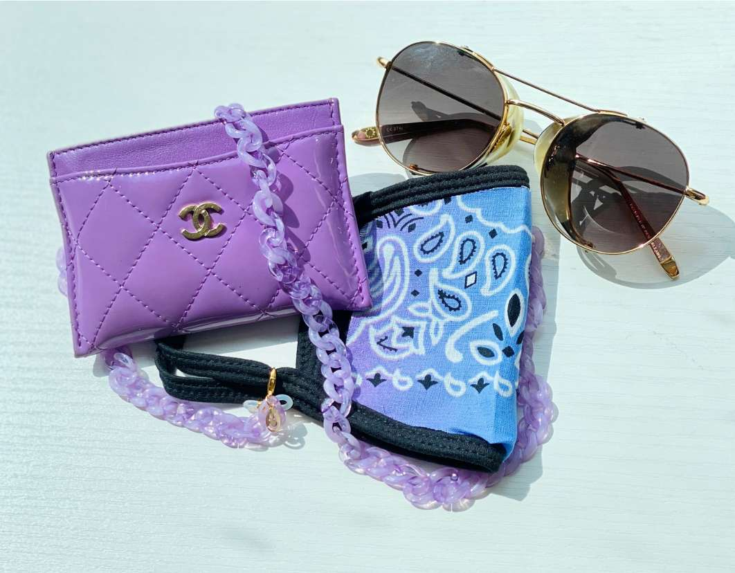 Shop by Sophie face mask, bag and sunnies
