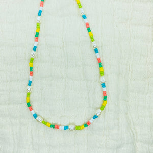 Pastel Pearl Beaded Necklace