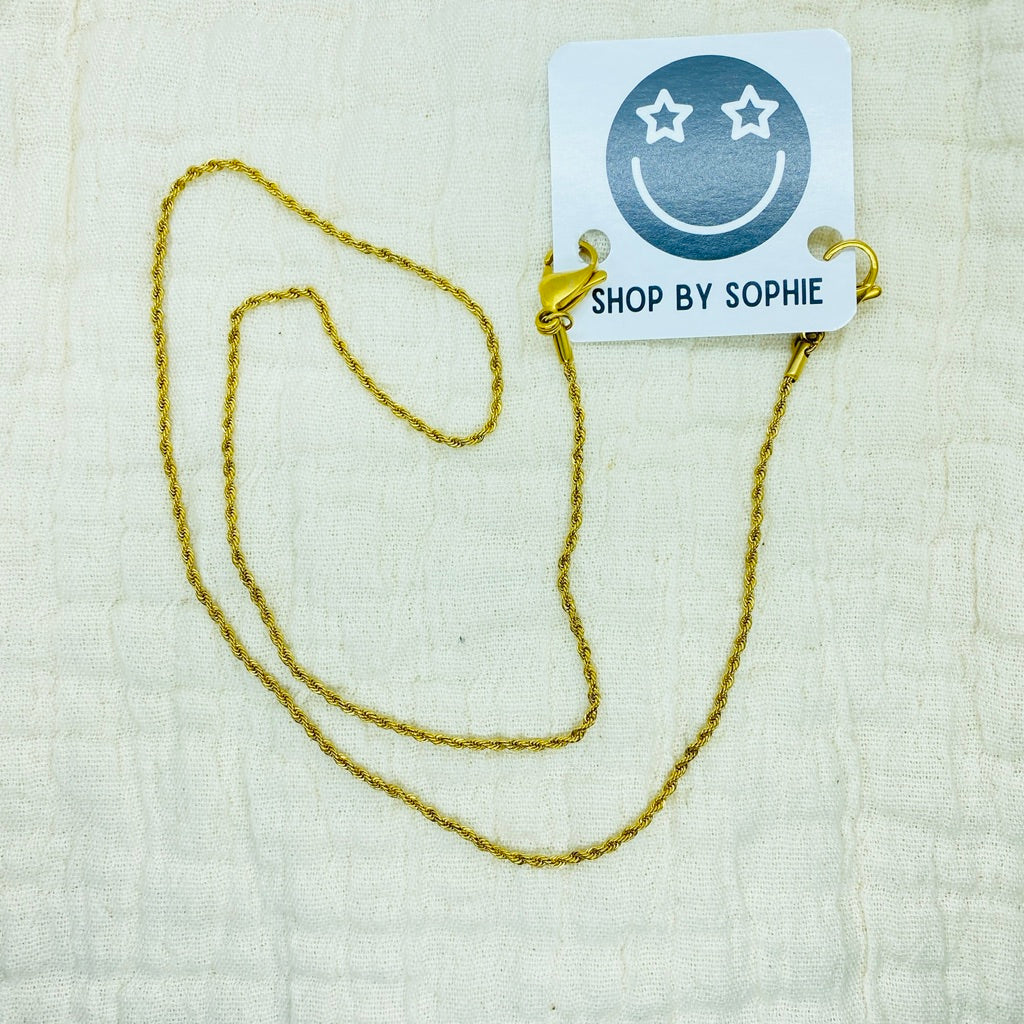 Gold Twisted Rope Chain