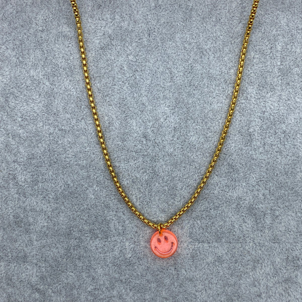 Neon Smiley Bella Chain Necklace
