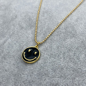 Enamel Smiley Charm Necklace
