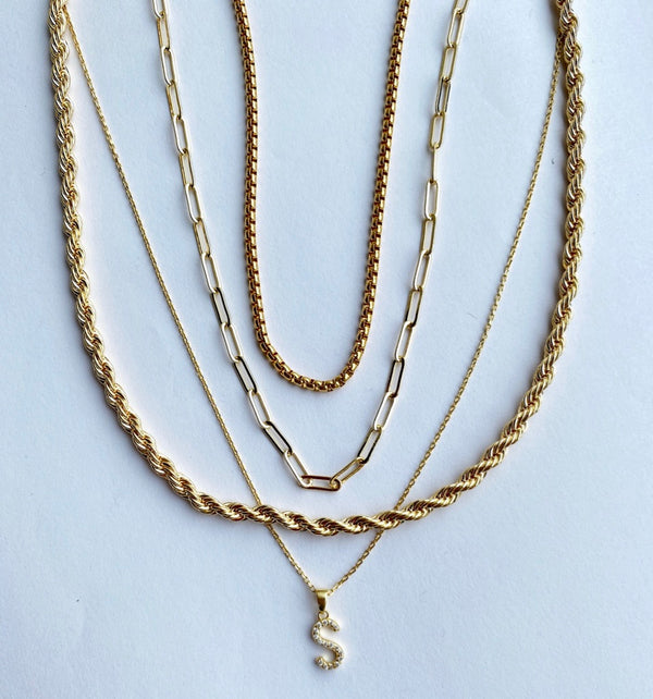Twisted Layers Necklace Stack
