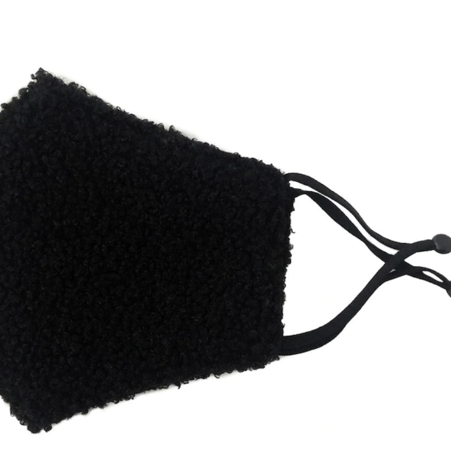 Black Sherpa Face Mask
