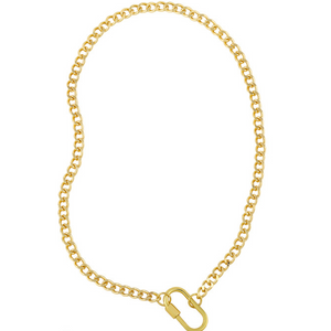 Locked Curb Chain Necklace