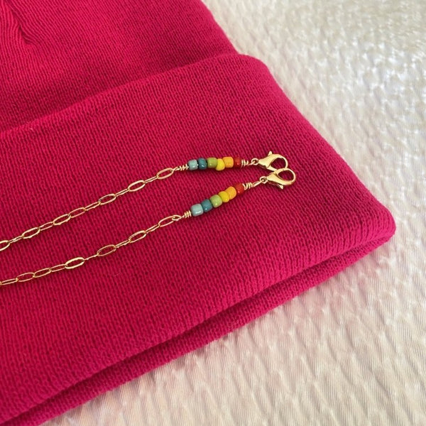 Rainbow Beaded Lou Chain