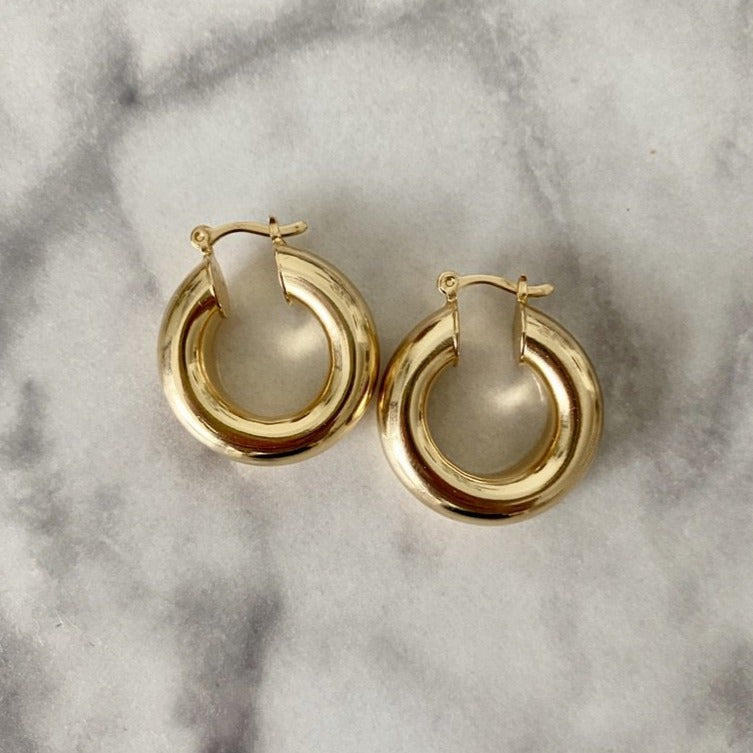 Thick Tube Hoop Earrings