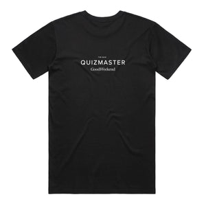 Good Weekend Quiz - Black Quizmaster T-Shirt
