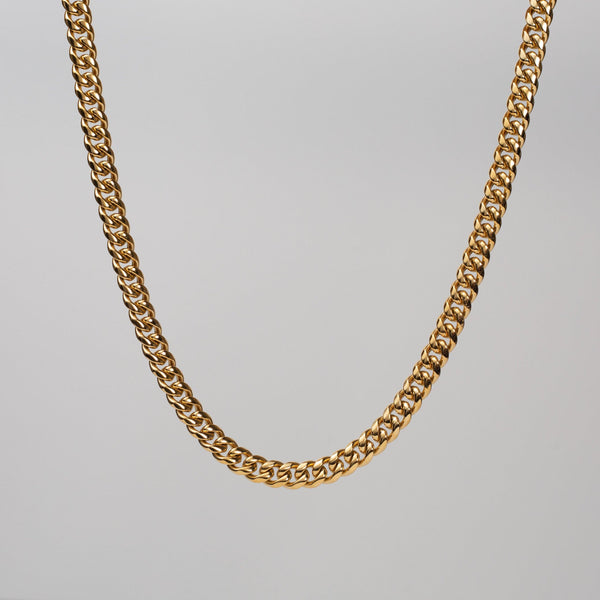 Talum Chain  18k Gold (8mm) - Saint Rossi