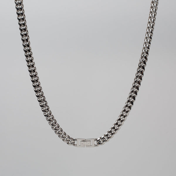Talum Chain Silver (8mm) - Saint Rossi