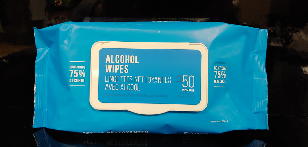 Alcohol Wipes, Pack of 50