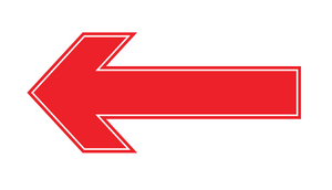 Floor Direction Stickers, Arrow Shaped