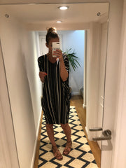 Oversized Striped T-shirt dress