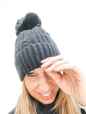 Super Soft Pom Pom Hat - Different Colours available