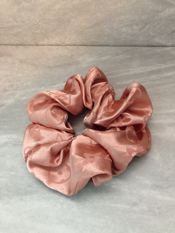 Designer Inspired Scrunchie Blush
