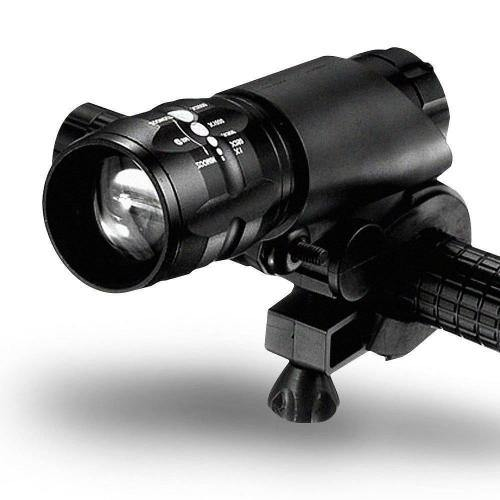 Bicycle Headlight Zoomable Flashlight Torch 3 Mode. Black - Bicycle and Me