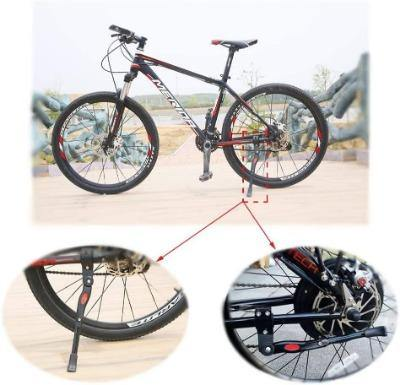 Bicycle Kickstand Side Adjustable Aluminium Alloy MTB Height Rear Kick Stand - Bicycle and Me