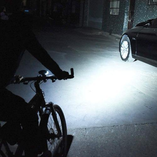 USB Rechargeable Bike Flashlight, with Speedometer, Odometer, Bike Light and Bell - Black - Bicycle and Me