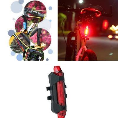Waterproof USB rechargeable mountain road bicycle Tail Light Red Light, 4-Mode - Bicycle and Me