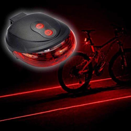 Cycling Laser Tail Light Water Resistant 2 Laser 5 LEDs 7 Modes Mountain Bicycle Bike Safety warning Back Rear Tail Light - Bicycle and Me