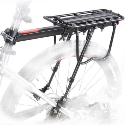 Universal Adjustable Cargo Rack Equipment Stand Foot stock Bicycle Luggage Carrier 110 Lbs - Bicycle and Me