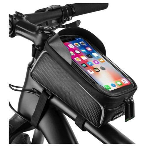 Bag, Bicycle Frame Bag Water Resistant Bicycle Front Top Tube Bag Screen Touch Fits Phones for Upto 6 Inch - Bicycle and Me