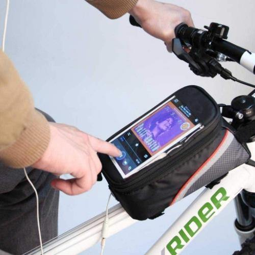 Bicycle Top Tube Frame Cycling Pannier Bike Bag & Mobile Phone Screen Touch Holde - Bicycle and Me
