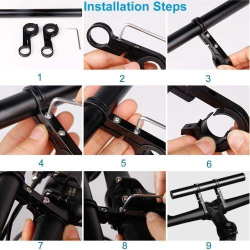 Bicycle Handle Extender Lightweight Durable Aluminum Alloy Double Handlebar Extension Bracket - Bicycle and Me