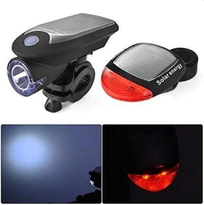 Combo of Solar Rechargeable Bicycle front light With Taillight - Bicycle and Me