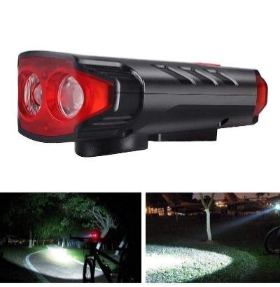 USB/Solar Rechargeable Bicycle Headlights 2*T6 LED and 6 type-Horns Sounds Waterproof Bicycle front Light with Horn - Bicycle and Me
