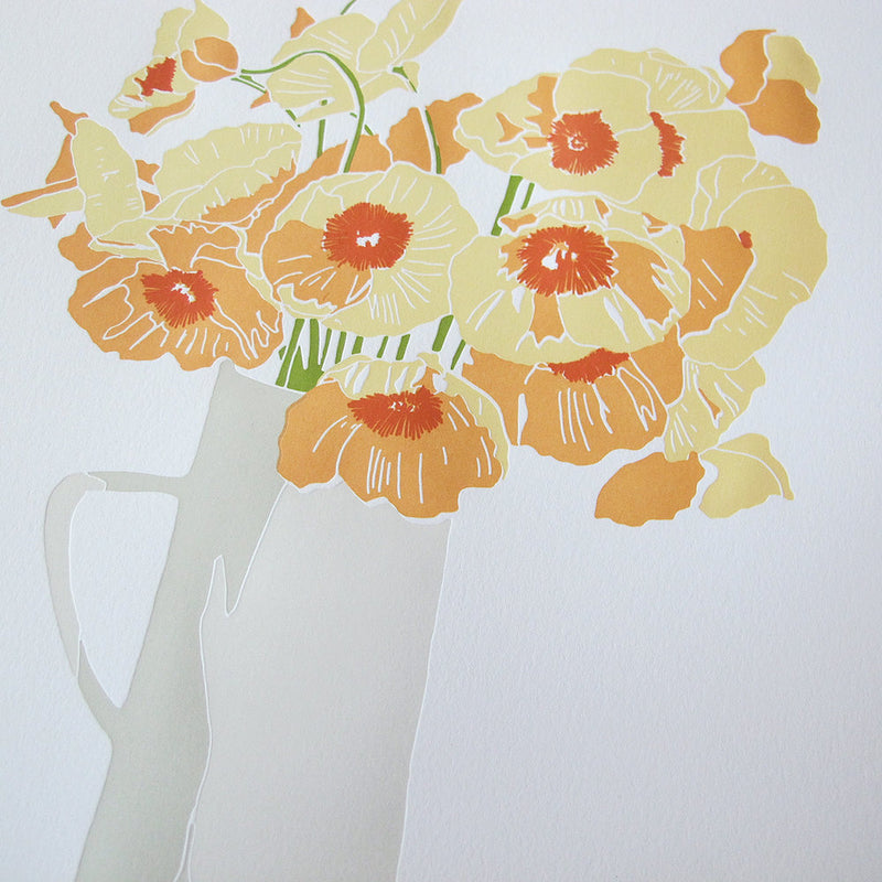 Creamsicle Poppies Print