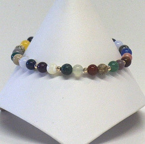 Multi Round Gemstone Bracelet - Lively Accents