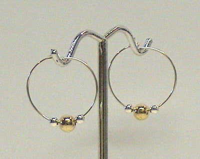 Silver & Gold Hoops