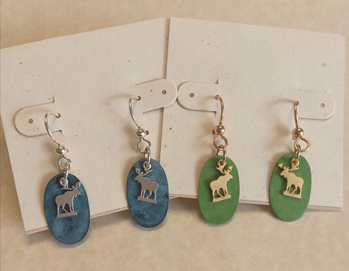 Mini Moose earrings - Lively Accents